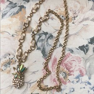Ann Taylor Pearl Pineapple Necklace